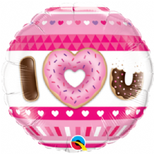 "I (Heart) U Donuts Foil Balloon (18"") 1pc"